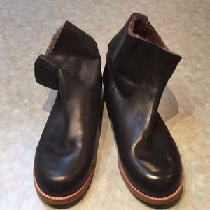 Gap black leather ankle boots